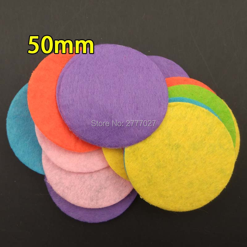100pcs 5.0CM Felt Circles Eco-friendly Round Felt Fabric Pads Accessory Patches Circle Felt Pads Fabric Flowers Accessories