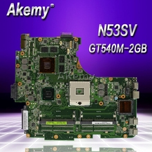 Akemy N53SV материнская плата для ноутбука ASUS N53SV N53SN N53SM N53S N53 Тесты Оригинал материнская плата GT540M-2GB