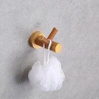 1Pcs Coat Rack Fashion Bathroom Wooden Towel Hooks Accessories Double Hook Wall Hanger Living Room Furniture