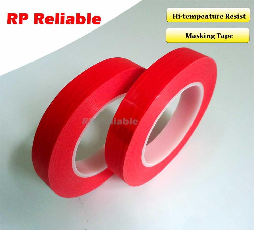 1x 5mm*33 meters *0.25mm High Temperature Resist Adhesive Tape PET Mix Paper for PCB SMT, ESD Coating, Automobile Coating Mask 110mm 33 meters 0 08mm single side heat resist sticky pet polyester film tape for protection