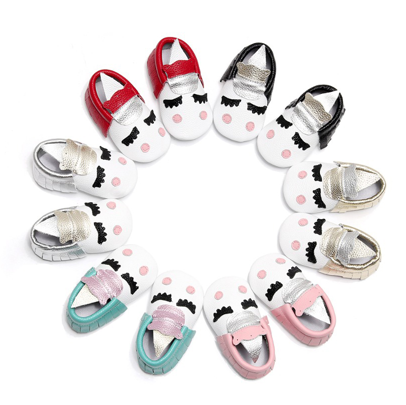 WHOLESALE 10pairs Pack Genuine Leather Slippers First Walker Skid-Proof Newborn Toddler Mocassins Baby Shoes unicorn winter girls baby boys sneakers first walker shoes small footwear for babies toddler lovely sports new year baby walker 70a1027