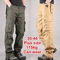 30 - 44 Большой размер высокое качество мужские брюки-карго свободного покроя мужские брюки на нескольких карманный военных в целом для мужчин на открытом воздухе длинные брюки