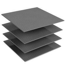 10PCS/Lot double dsides baseplate 25.5*25.5cm 32*32 dots building brick base 13 colors plate blocks compatible with legoed