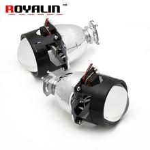 ROYALIN Bi Xenon HID Объектив Проектора LHD RHD 2.5 дюймов Фар Линзы с Hi/Lo Луча для H4 H7 H11 Свет Автомобиля Модифицированной Использовать H1 лампы