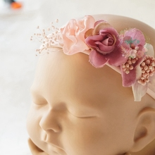 New child Images Props Headband Lace Flower headwear child styling picture equipment
