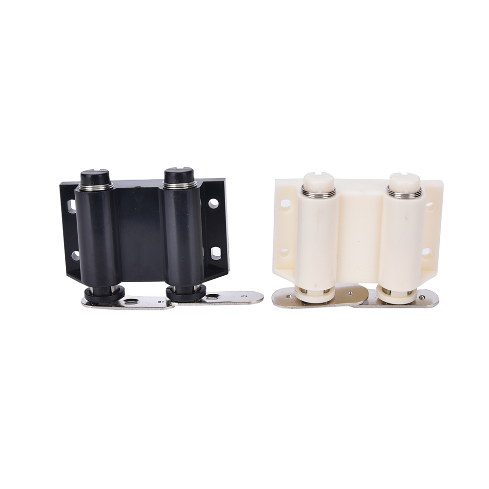 1pcs cabinet double door catch magnet cupboard latch push press open black white color(China
