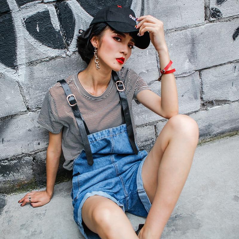 Cowboy Salopettes Woman Shorts Jeans Short Fund Summer New Pattern Easy Blue Thin Leg Pants Twinset  A1122