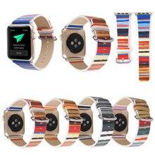 XG549 Leather iWatch Apple Watch 38mm 42mm Men Women Sport Wrist Strap Band Replacement Bracelet for iWatch Folk-Custom Style