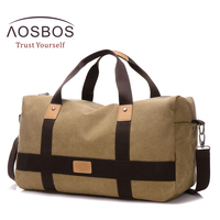 Aosbos Training Gym Bag Men Women Canvas Sports Bag For Fitness Outdoor Traveling Storage Handbags Durable