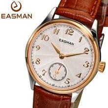 Easman часы женщины кварцевые часы 2015 новый золотой наручные часы мода круглый малый набор из натуральной кожи сапфир женские часы
