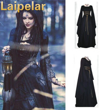 Victorian Gothic Georgian Period Dress Halloween Masquerade Ball Gown Reenactment Clothes Laipelar Party Cosplay
