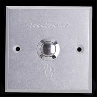 (10 PCS) silvery color metallic surface Door Exit button access control switch automatically reset Door intercom Release