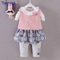 3pcs Girls Pants Suit Lovely Kids Clothing Sets 2018 Newest Design Infants Sportswear Children Clothing Sets