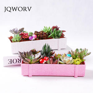 JQWORV Plant Decorative Succulent Plastic Flower Pot