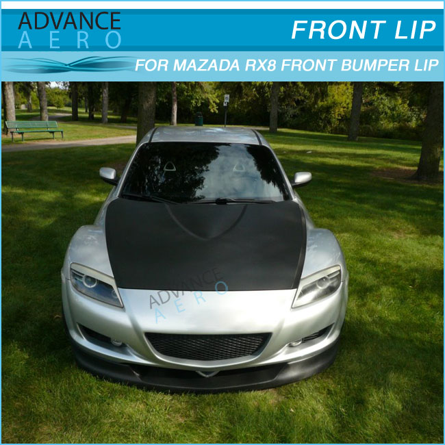 Fit For 04 08 MAZDA RX8 FRONT BUMPER LIP SPOILER BODYKIT TYPE SPORT Polyurethane-in Bumpers From