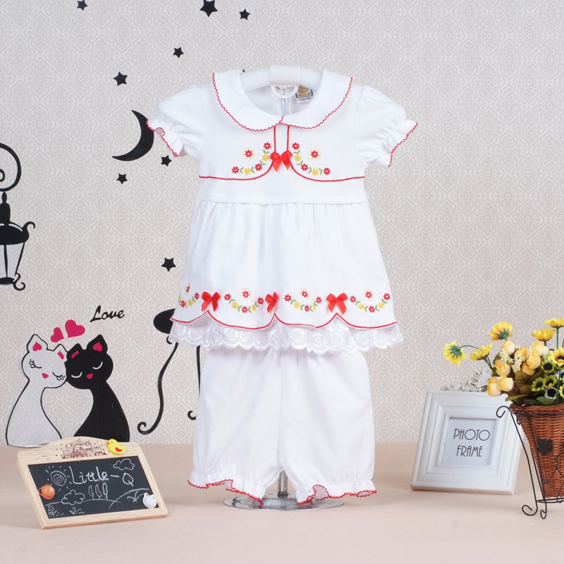 2017 hot fashion baby girls summer pure cotton clothing set children dress+short pants t shirt kids newborn Toddler outfits 2017 summer new children baby girl clothing denim set outfits short sleeve t shirt overalls skirt 2pcs set clothes baby girls