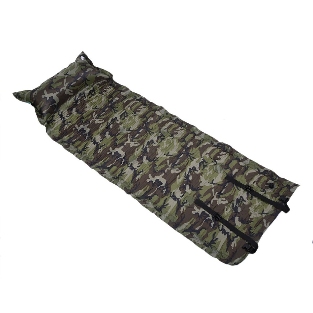 Self Inflatable Air Mattress Pillow Folding Sleeping Bag Bed Camping Hiking Outdoor Picnic Portable Survival Tool 183x57cm