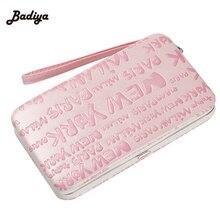 2016 New Fashion Letter Pockets Plastic Box Design Card Holder Credit Bank Card Case Wallet For Women Girls