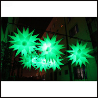 Free shipment 2m Wedding decoration inflatable led star for sky lantern