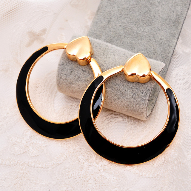 The Latest Clic Large Black Hoop Earrings For S Women Hot