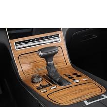 Lsrtw2017 PVC Wood Grain Car Interior Gear Panel Window Lifter Central Control Trim Sticker for Trumpchi Gs5 2012-2020