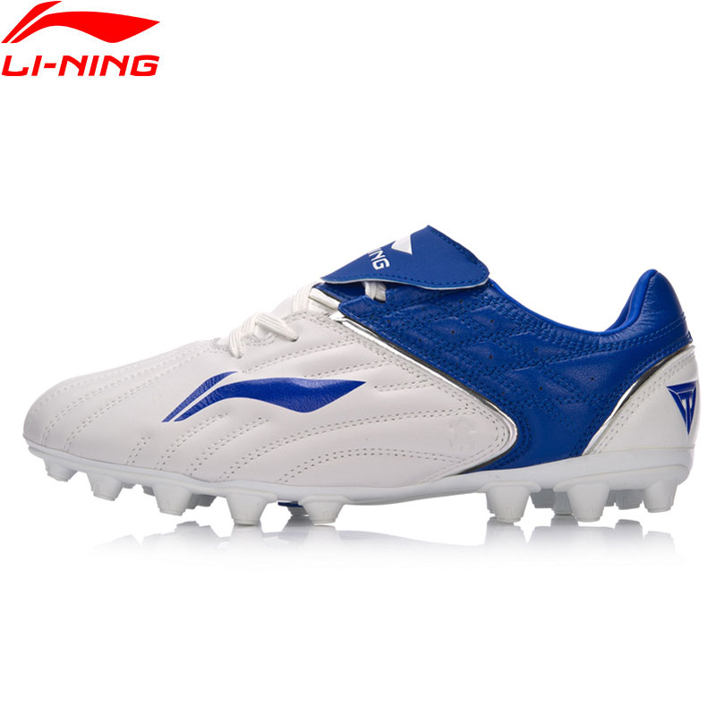 Li-Ning Men TIE SERIES  CATTLEHIDE Soccer Shoes Anti-Slippery Wearable AG LiNing Sports Shoes Comfort Sneakers ASFM025 YXZ078 li ning men wade series basketball shoes breathable comfort lining sports shoes abcm093 xyl117