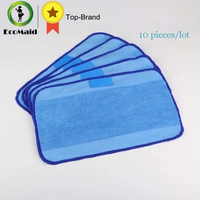 10 Pcs Lot Microfiber Mopping Cloths For IRobot Braava 321 380 320 380t Mint 5200C 5200