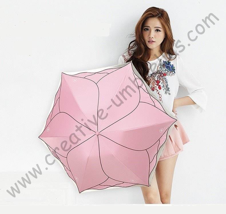 Ladies summer lotus leaf flower super light folding mini pocket umbrella  5 times colour coating Anti-UV embroidery parasolLadies summer lotus leaf flower super light folding mini pocket umbrella  5 times colour coating Anti-UV embroidery parasol