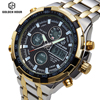 Luxury Brand Analog Digital Watches Men Led Full Steel Male Clock Men Military Wristwatch Quartz Sports