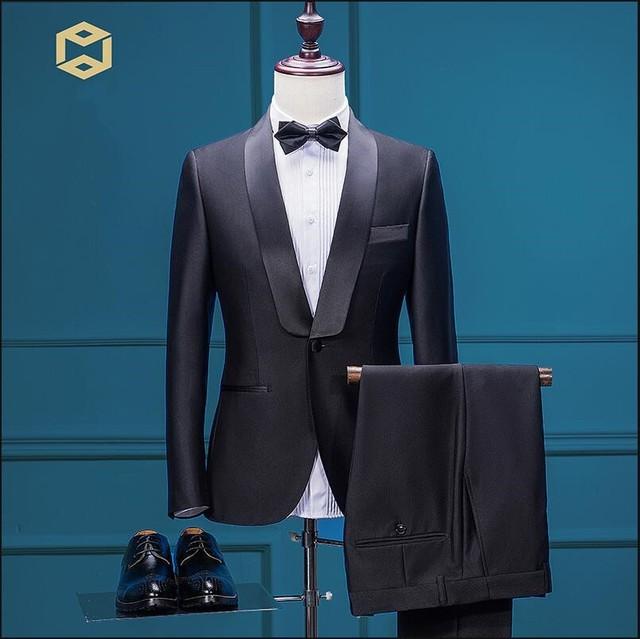 Custom made Brand Mens suits Black Tuxedo Jacket Pants Blazers Male ...
