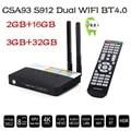 CSA93 Amlogic S912 Android TV Box Octa core Cortex-A53 2G/16G Android 6.0 TV Box WiFi BT4.0 2.4G/5.8G H.265 2K*4K media Play