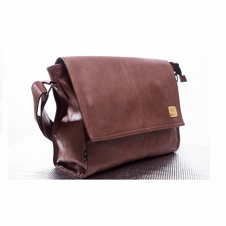 b7ab21cc3bc Designer handbags Men s 14 inch laptop bag pu leather messenger bags men  travel school bags leisure bags free shipping-in Crossbody Bags from Luggage    Bags ...