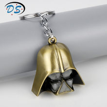 Star Wars Darth Vader Máscara 3D Chaveiros Chaveiros Chaveiro para o Presente Unisex Titular da Chave Do Carro Luminosa GLOW IN THE ESCURO Jóias(China)