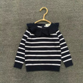 2017 spring and autumn new style baby girls flouncing striped sweater children's knitted sweater children fashion cute sweater