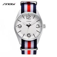SINOBI 2017 Watches Men Luxury Brand Watch Nylon Strap 44 Mm Wristwatches Fashion Casual Quartz Watch Relogio Masculino AB2165