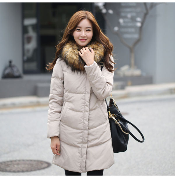 Spring And Winter New Plus Size Women Raccoon Fur Collar Duck cotton Coat Long Slim Thick Warm Hooded cotton Jacket S-6XL H3297 winter women fashion long thick warm 100%cotton filling jacket women plus size fur raccoon collar slim coat overcoat parka