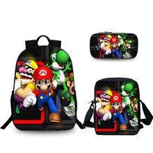 Костюм игры Mario Bros Sonic печать детский школьный рюкзак для подростков мальчиков мультфильм детские школьные сумки для девочек Bookbag