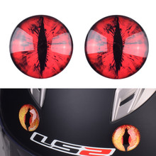 One Paif Decorative Devil Eyes for Motorcycle Motocross Helmet Capacetes Demon C