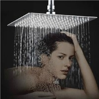 8 inch 200*200mm bathroom rain shower Head Square water saving rainfall shower Bathroom head shower mirror surface shower