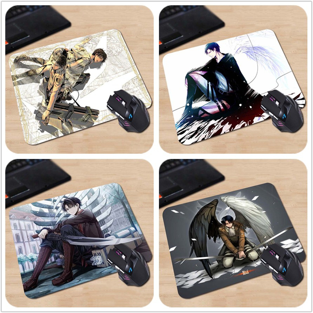 Attack on Titan Levi Eren Wings Soldiers Customized Computer Notebook Anime Mouse Mat