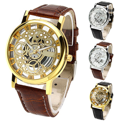 2017 trended men s women s roman numerals faux leather band skeleton analog sports dress wrist.jpg 250x250