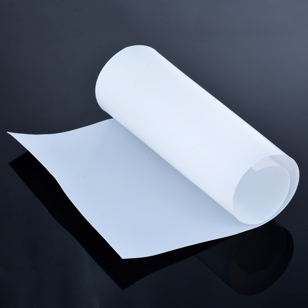White Teflon PTFE Film/Sheet Virgin High Strength Temperature 500*250*0.5MM For Cut At Random Extrusion Processing