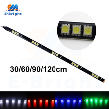 10pcs 12V 5050 15 SMD 30cm 60cm 90cm 120cm LED Strip Light Flexible Decorative Auto Front Backup Day