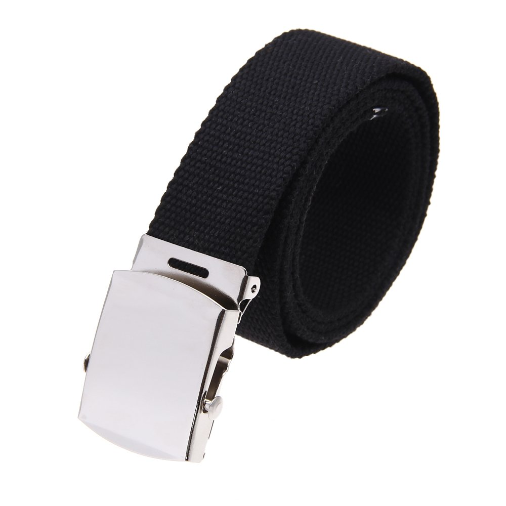 Cloth belt waistband Band Belt Black Men 38mm
