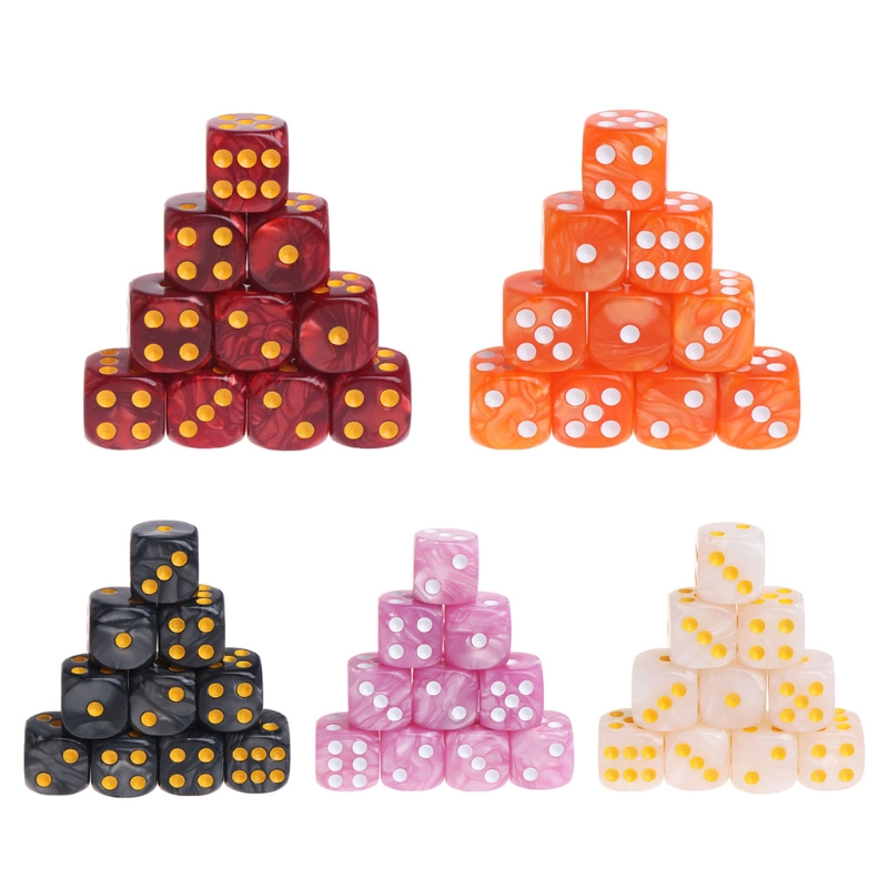 10pcs/Set Acrylic Polyhedral Dice For TRPG Board Game Dungeons And Dragons new