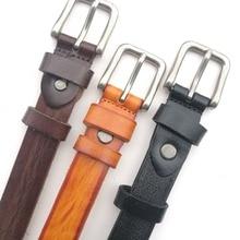 DKBLINS/модный детский кожаный ремень из натуральной кожи; Модный Детский Повседневный ремень с пряжкой; длина 85 см