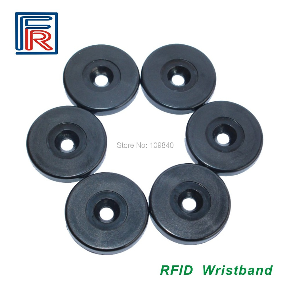 100pcs 125khz Waterproof ABS Guard Patrol Point Dia 30mm EM4100 ID Round Cointag