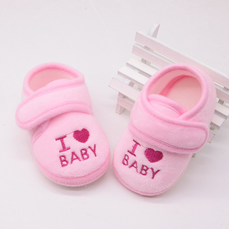 New Soft Sole Toddler First Walker Shoes Cotton Baby Girls Printed Crib Shoes Fashion Infant Crib Shoes