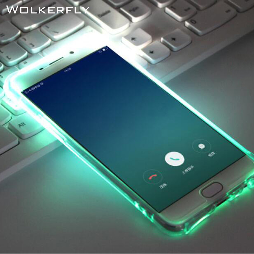 Luxury LED Flash Light Phone Case For Samsung Galaxy S8 PlusS6 S7edge Note5 A3 A5 A7 J3 J5 J7 Prime Luminous Glitter Clear Case