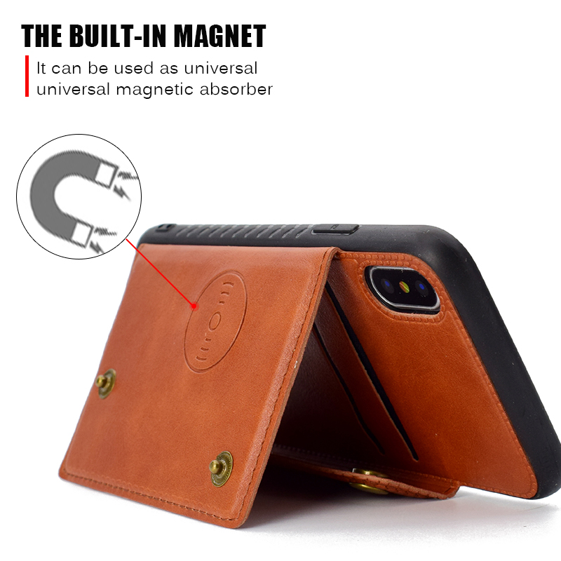 Tough Capa Case For iphone 5 5S SE 6 6S 7 8 Plus Slider Card Holder Wallet Armor Phone Back Cover for iphone X XS Max